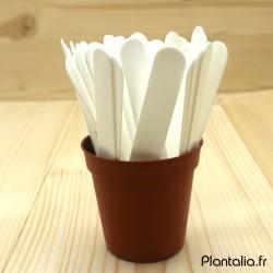 Etiquette 10 cm Blanche pour Plante